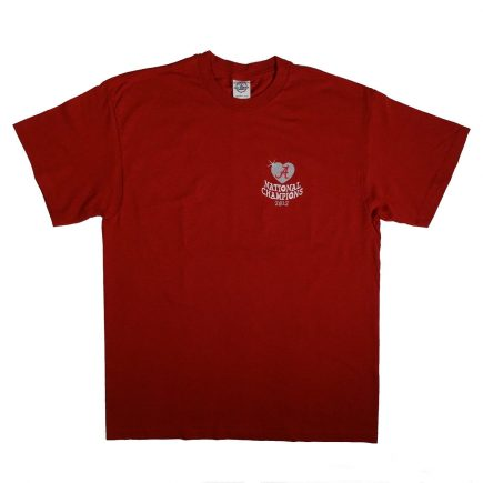 Alabama Football National Champions 2012 T Shirt Front
