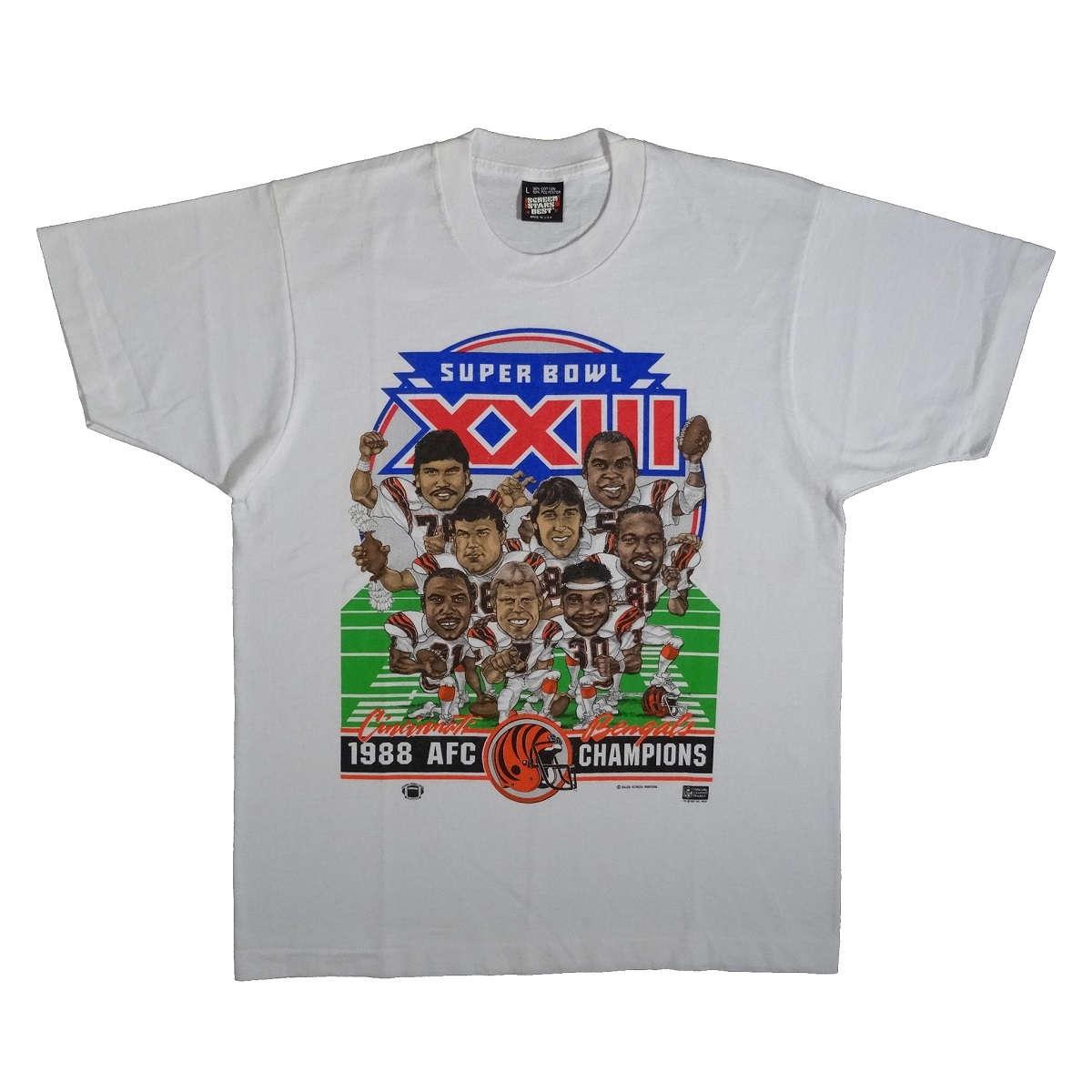 Cincinnati Bengals Shirt Vintage 1988 AFC Champions Caricature T Shirt Front