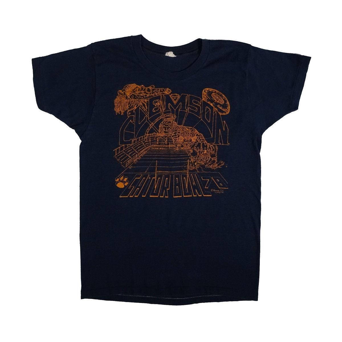Clemson Tigers Football Gator Bowl 1978 Vintage T Shirt Front
