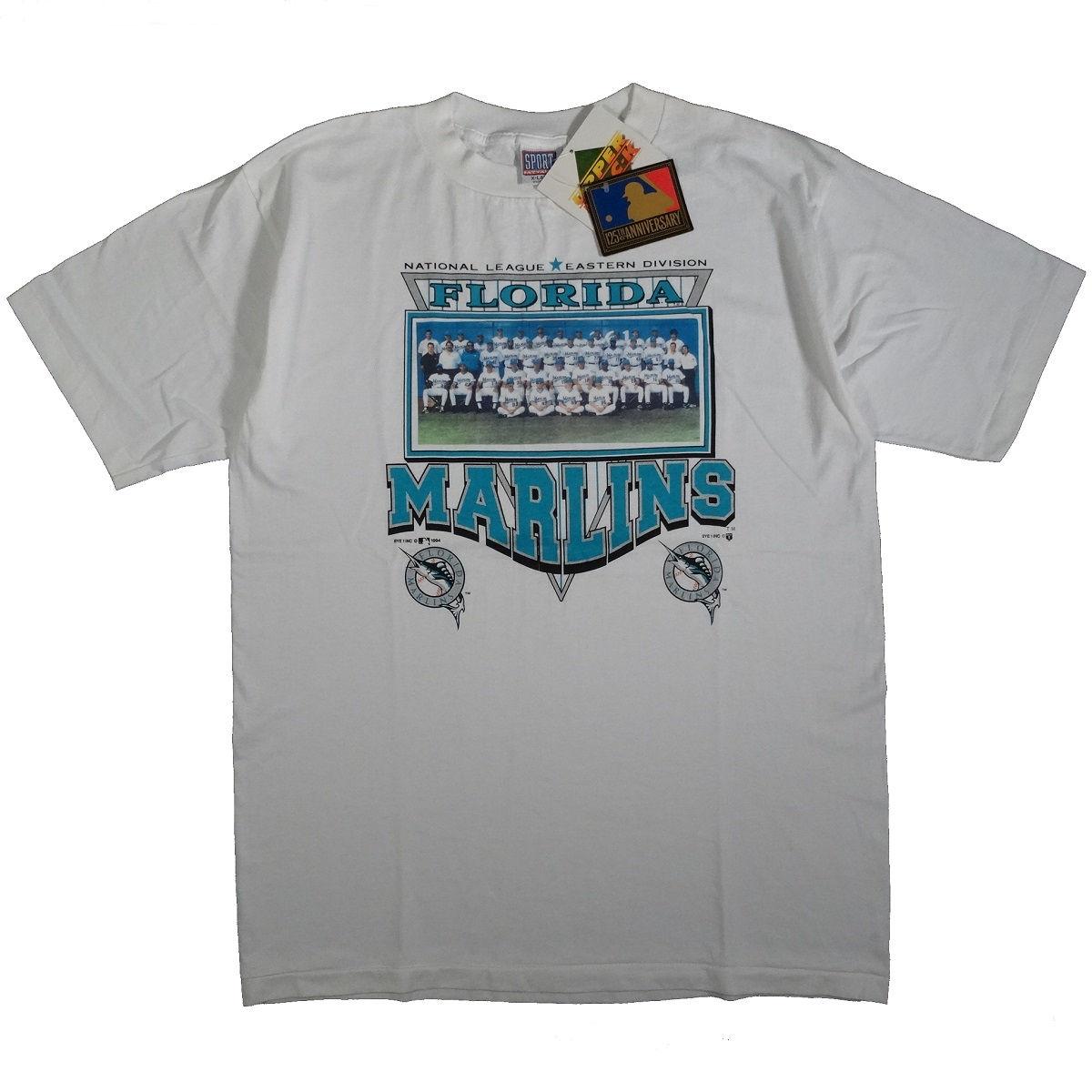 Florida Marlins Miami Vintage 90s 1994 Team Photo T Shirt Front