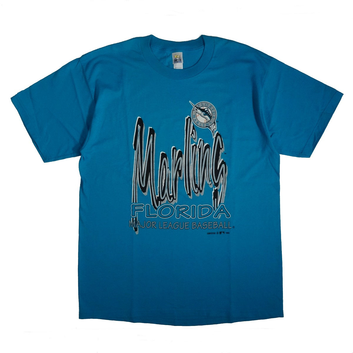 Florida Miami Marlins Baseball Vintage T Shirt 1994 Front of Shirt