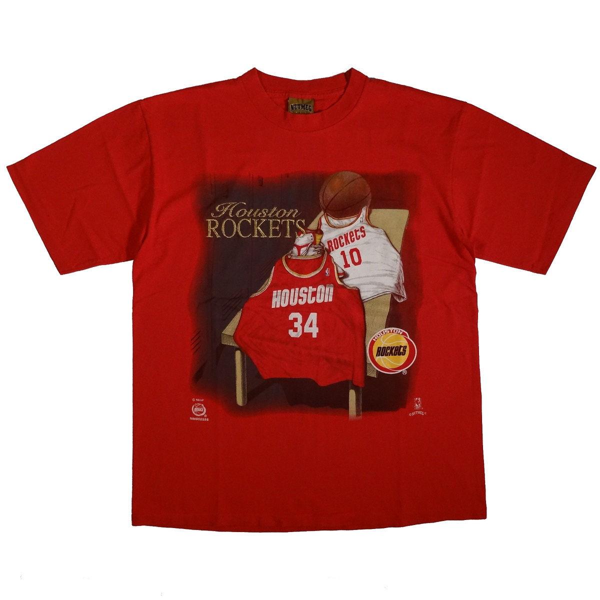 Houston Rockets Hakeem Olajuwon Sam Cassell Vintage T-Shirt Front
