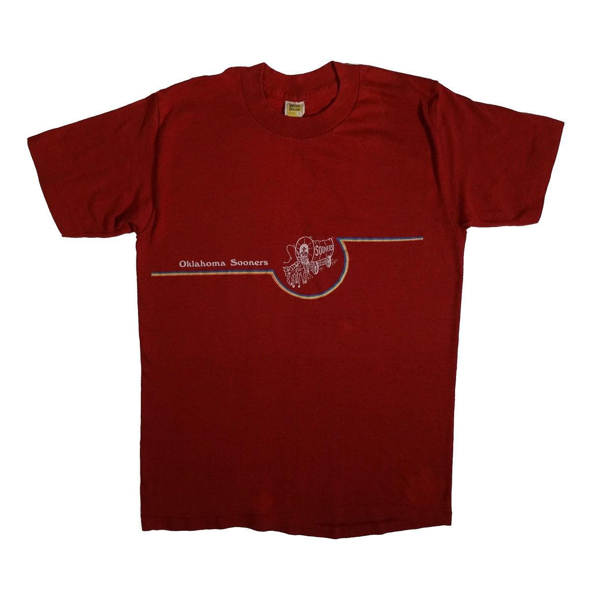 Oklahoma Sooners Vintage Velva Sheen T Shirt Front