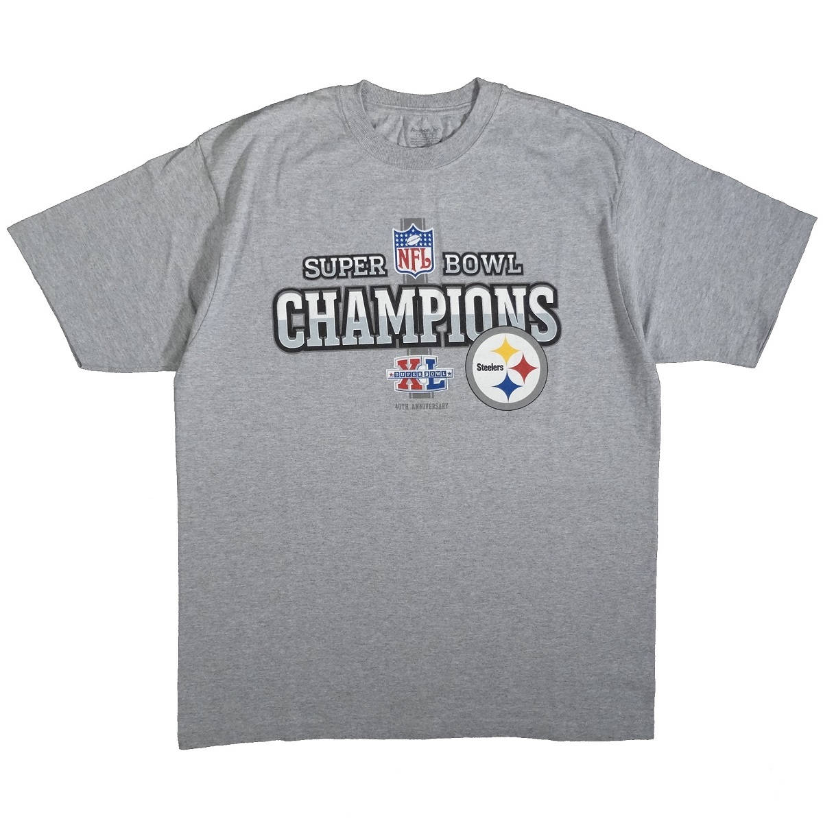 Pittsburgh Steelers Super Bowl XL Champions Shirt Front