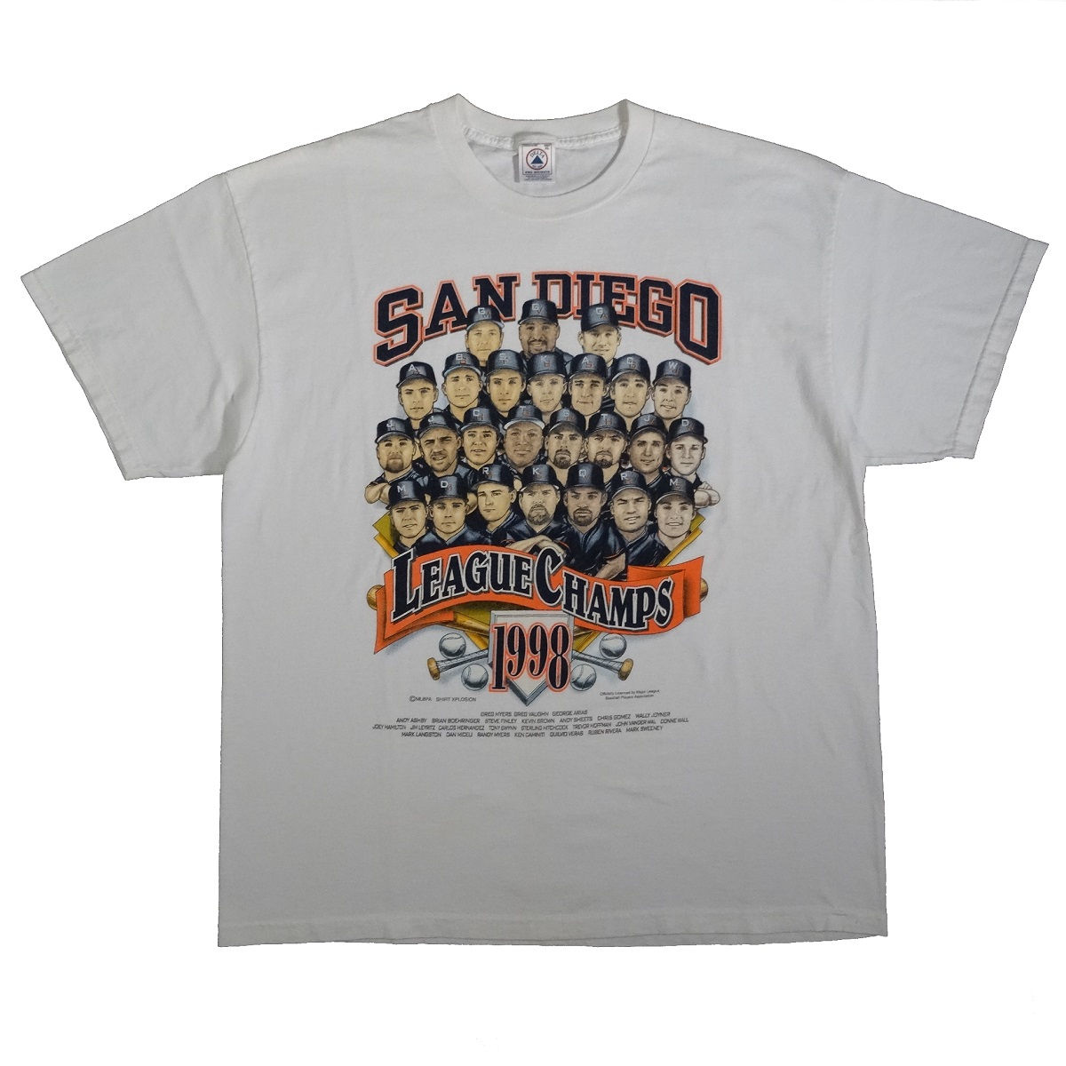 San Diego Padres 1998 National League Champions Caricature T Shirt Front