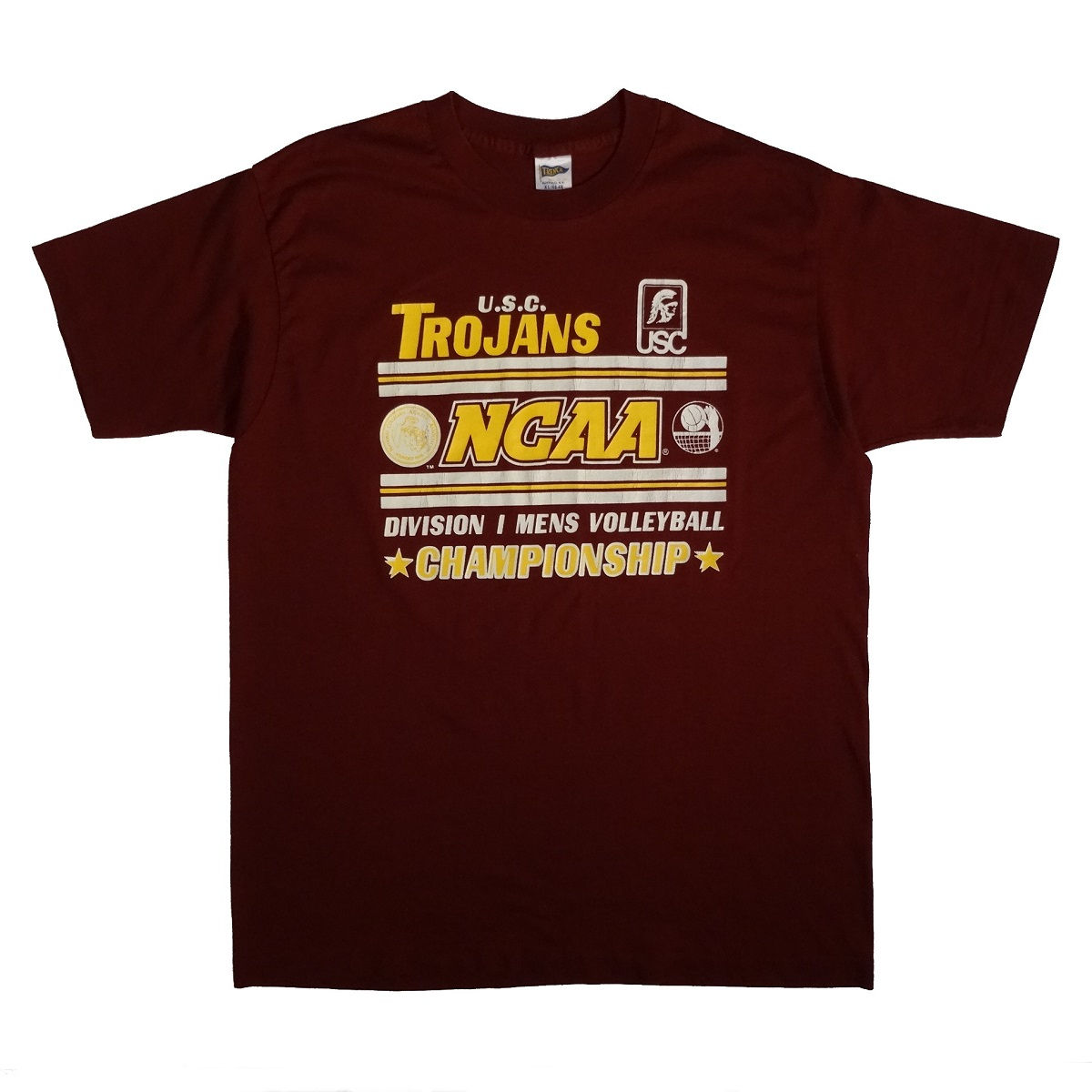 USC Trojans Volleyball Championship Vintage 80s T Shirt Front