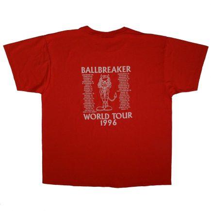 AC/DC Vintage 90s Ballbreaker World Tour 1996 T Shirt Back