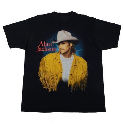 Alan Jackson Lot About Livin Little Bout Love Vintage 90s T Shirt Front