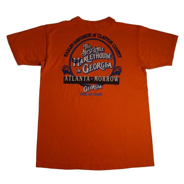 Atlanta Georgia Best Little Harley-House Harley Davidson Pocket T Shirt Back