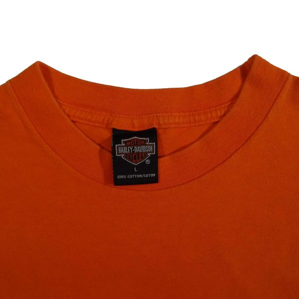 Atlanta Georgia Best Little Harley-House Harley Davidson Pocket T Shirt Collar Tag