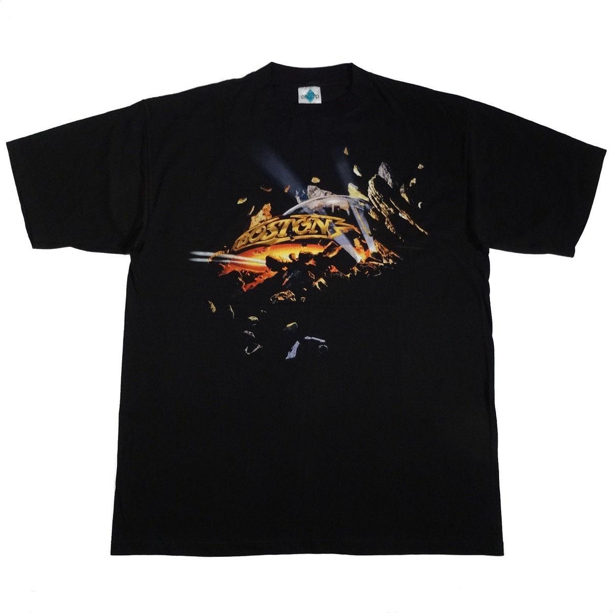Boston Livin For You Vintage 90s 1995 Concert Tour T Shirt Front