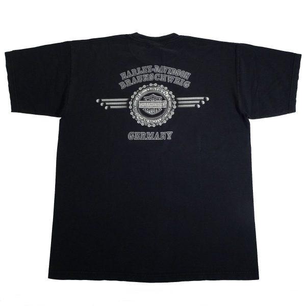 Braunschweig Germany Harley Davidson T Shirt Back
