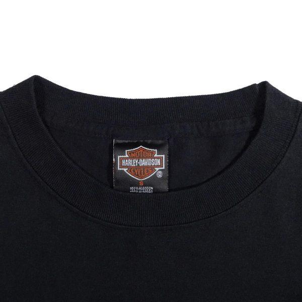 Cancun Mexico Harley Davidson T Shirt Image Collar Tag