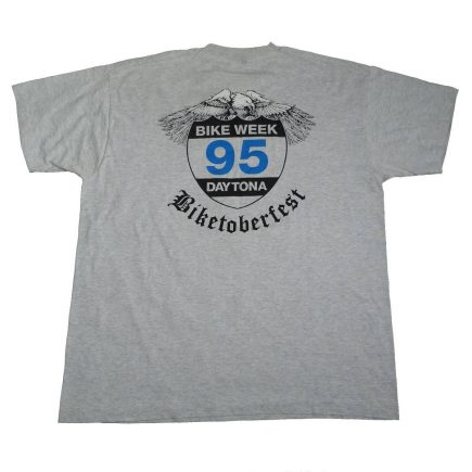 Daytona Florida Bike Week 1995 Biketoberfest T Shirt Back