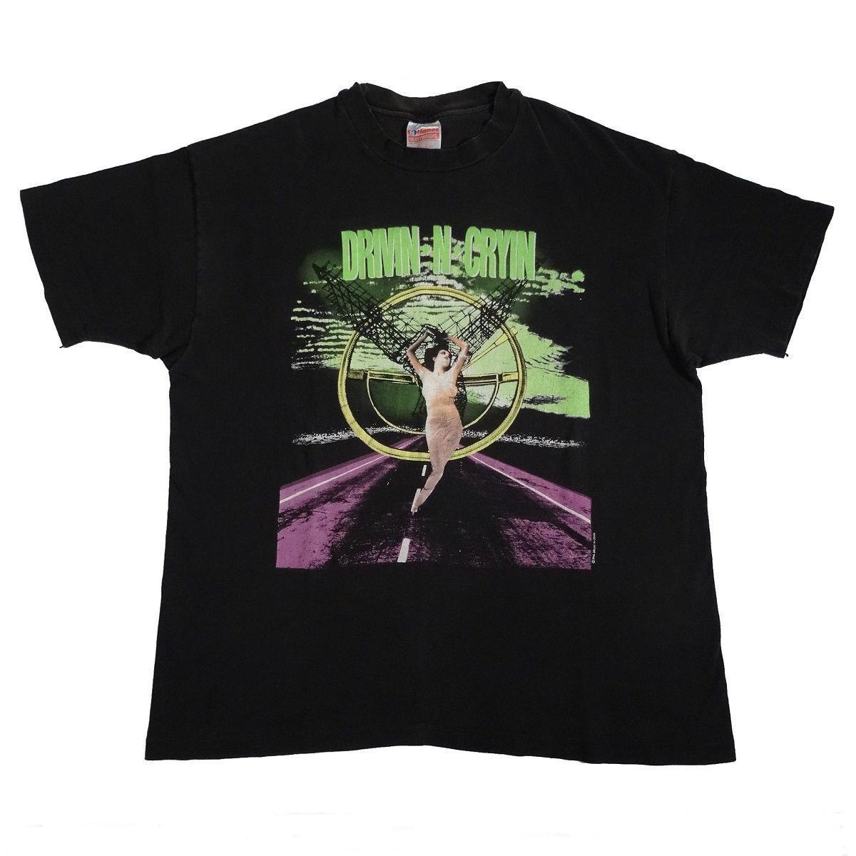 Drivin N Cryin World Tour 1992 Vintage T Shirt Front