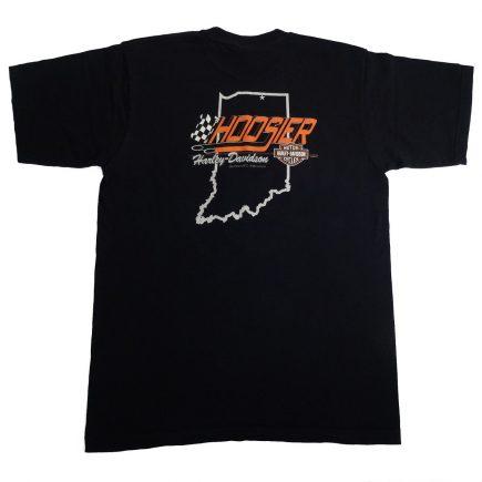 Elkhart Indiana Hoosier Harley Davidson State of Mind T Shirt Back