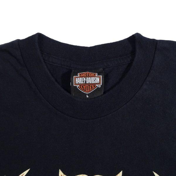 Elkhart Indiana Hoosier Harley Davidson State of Mind T Shirt Collar Tag