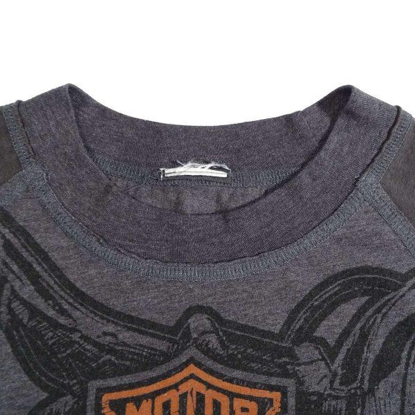 Greenville South Carolina Harley Davidson Long Sleeve T Shirt Collar Tag