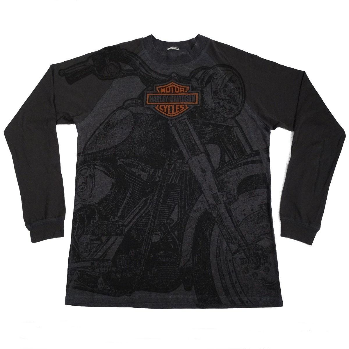 Greenville South Carolina Harley Davidson Long Sleeve T Shirt Front