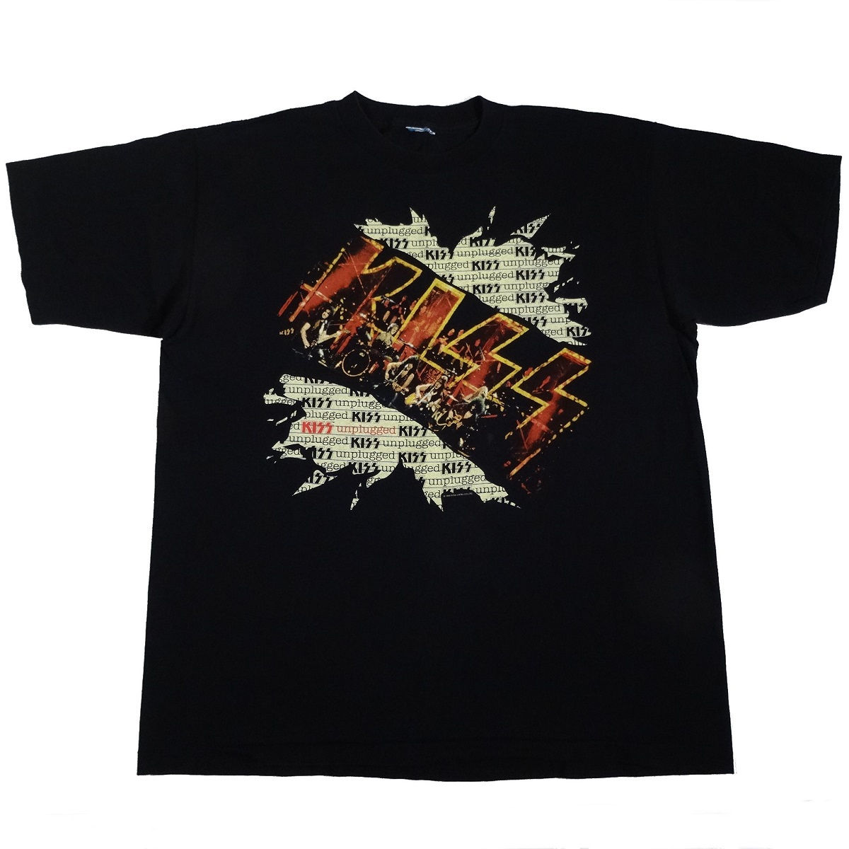 Kiss Unplugged T Shirt Vintage 90s Front