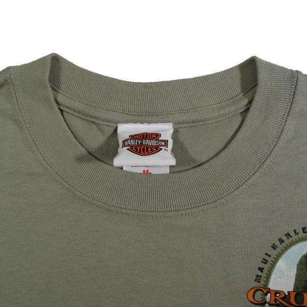 Maui Hawaii Harley Davidson T Shirt Collar Tag