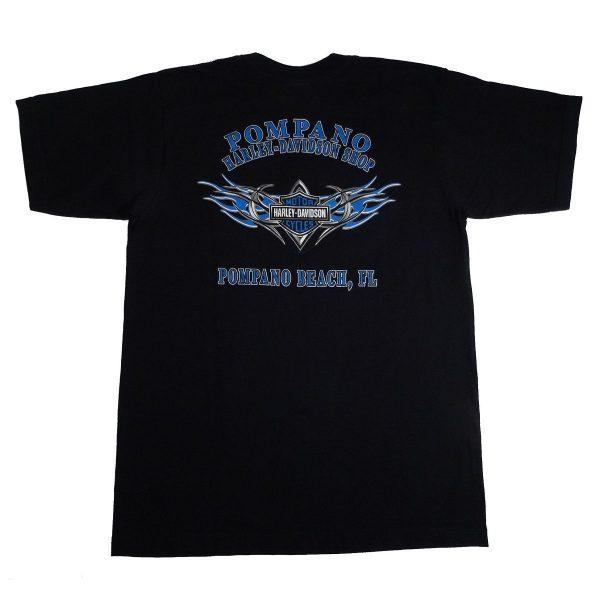 Pompano Beach Florida Harley Davidson T Shirt Back