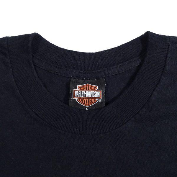 Pompano Beach Florida Harley Davidson T Shirt Collar Tag