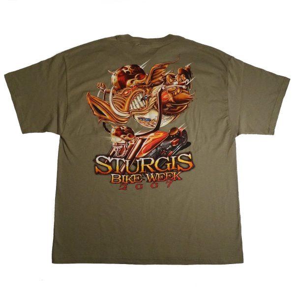 Sturgis SD Bike Week 2007 Motorcycle T Shirt Back Image