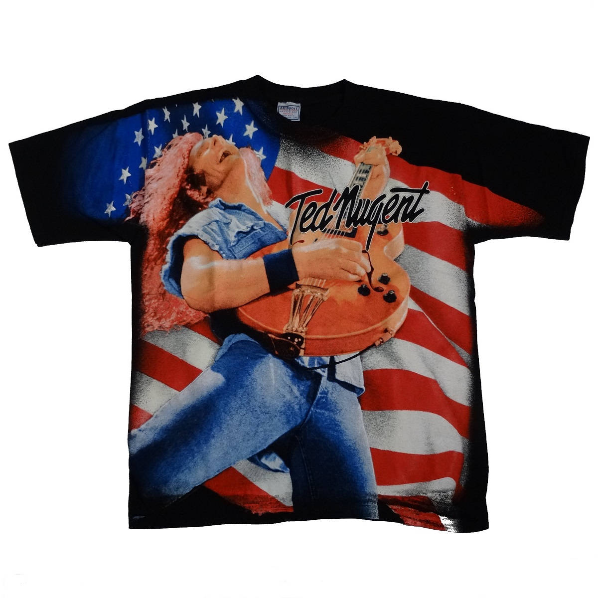 Ted Nugent One Nation Under Ted Vintage T Shirt Front
