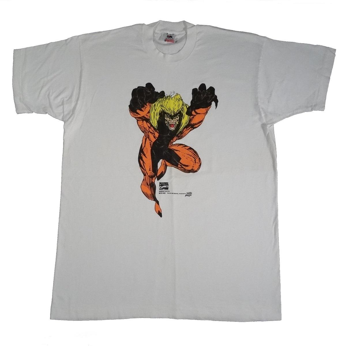 Marvel Comics Sabretooth Vintage 1994 Shirt Tarks Tees Front of Shirt