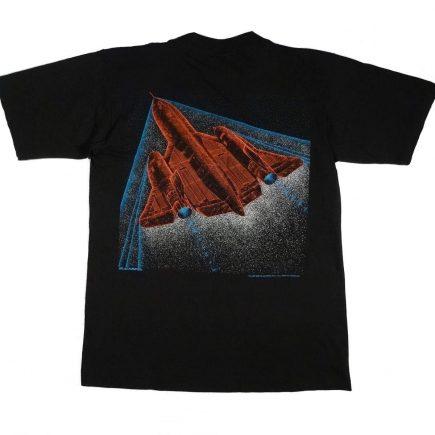 SR-71 Blackbird Lockheed Vintage Shirt Tarks Tees image on back of shirt