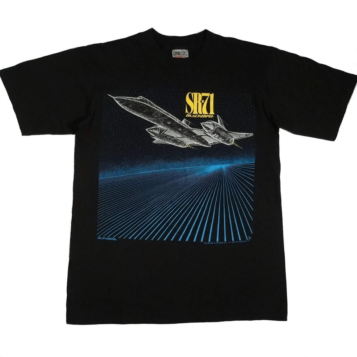 SR-71 Blackbird Lockheed Vintage Shirt Tarks Tees image on front of shirt