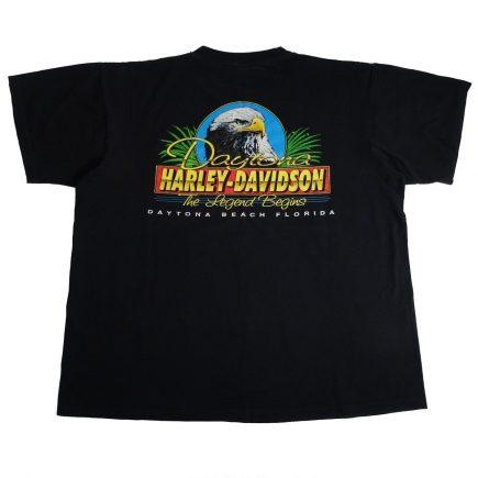 Daytona Beach Florida Bike Week 96 Harley Davidson Vintage 90's T Shirt Back