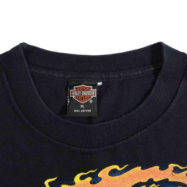 Daytona Beach Florida Bike Week 96 Harley Davidson Vintage 90's T Shirt Collar Tag