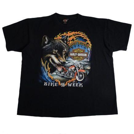 Daytona Beach Florida Bike Week 96 Harley Davidson Vintage 90's T Shirt Front