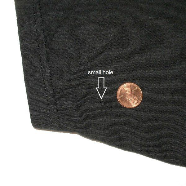 easyriders motorcycle las vegas vintage shirt image hole back of left sleeve