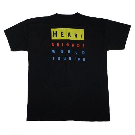 Heart Brigade World Tour 1990 vintage concert t shirt back of shirt
