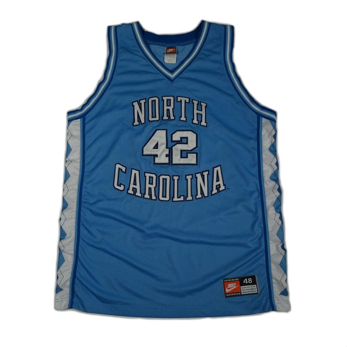 North Carolina Tar Heels Basketball Vintage Nike Jersey Front