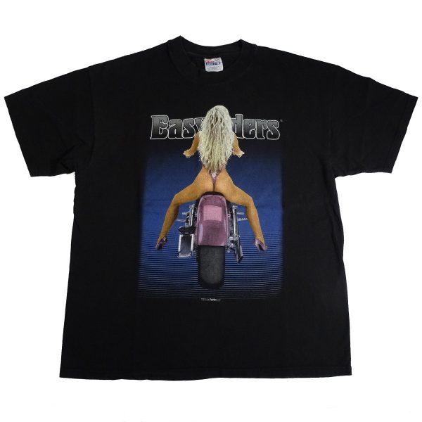 easyriders motorcycle las vegas vintage 90's t shirt biker babe front