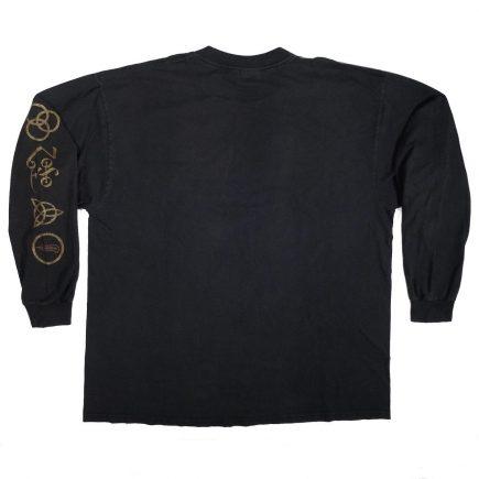 led zeppelin hammer of the gods vintage long sleeve t shirt back of shirt