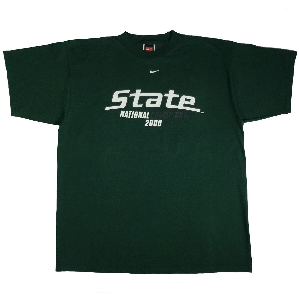 michigan state 2000 national champions vintage nike t shirt front