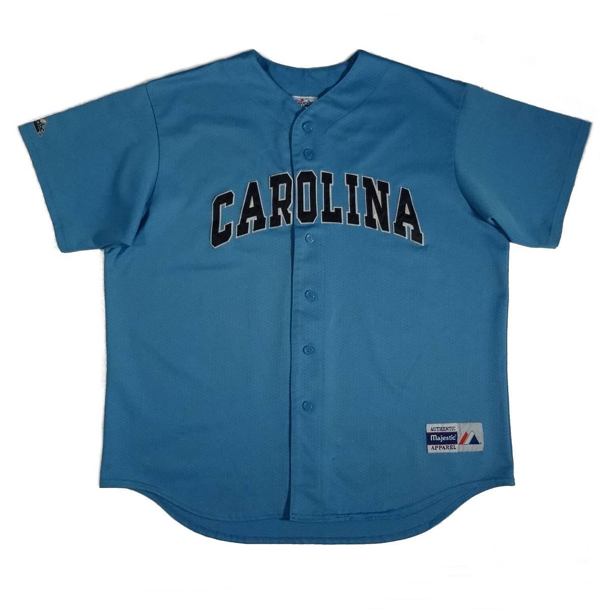 north carolina tar heels baseball jersey vintage majestic front