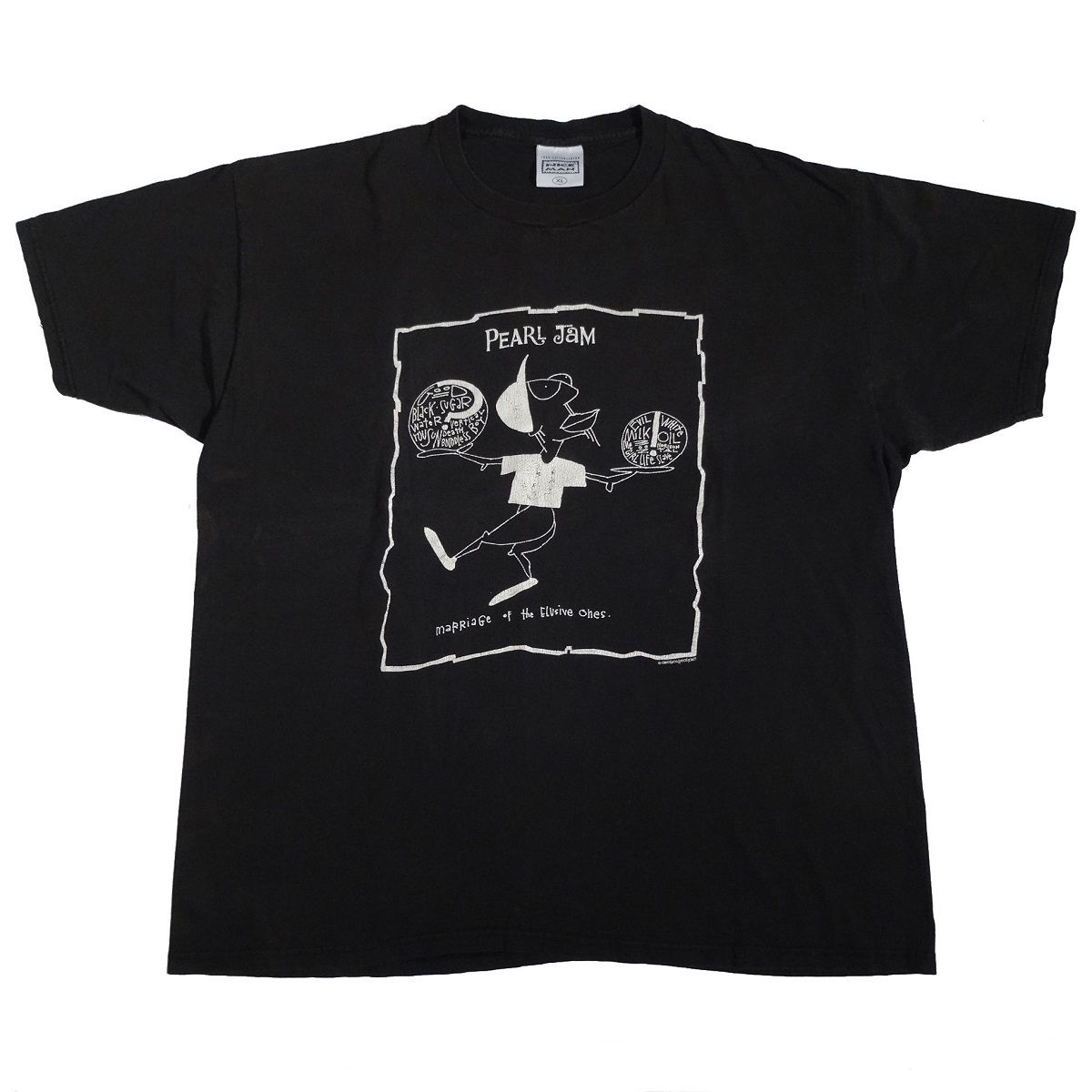 pearl jam boundless vintage 90s t shirt front of shirt