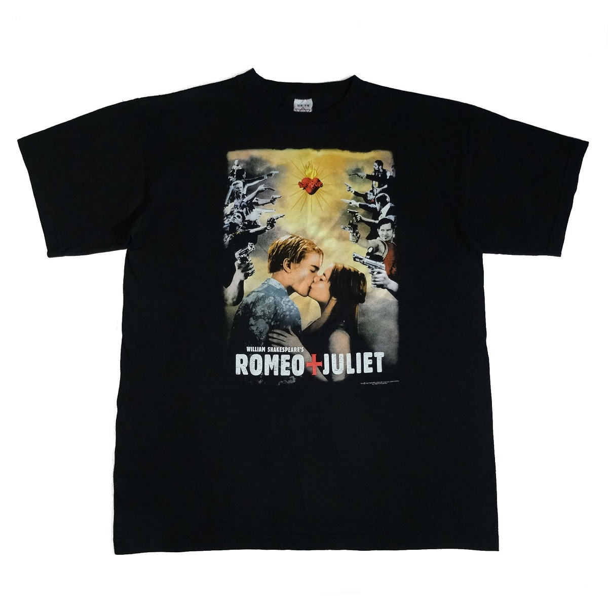 romeo juliet vintage 90s t shirt decaprio movie front image