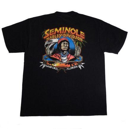 sanford florida seminole harley davidson t shirt back