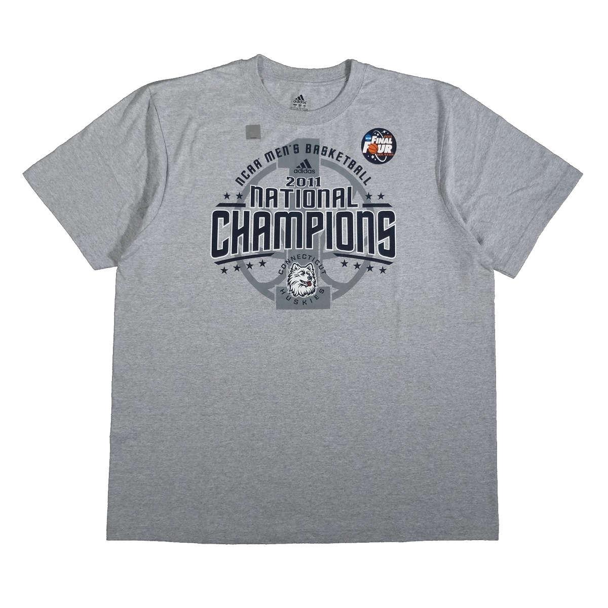 connecticut huskies 2011 basketball national champions adidas t shirt front of shirt