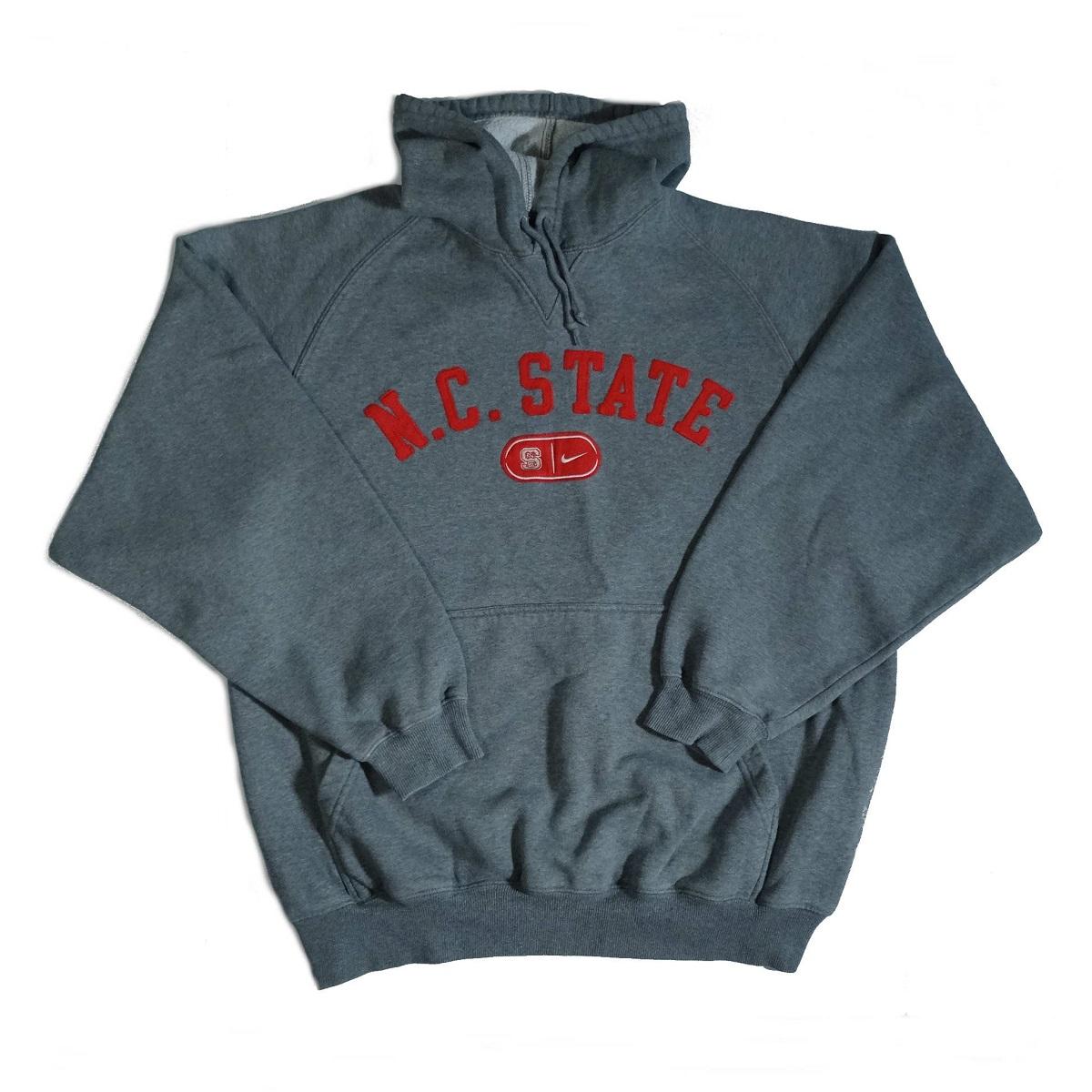 vintage nike north carolina state wolfpack hoodie front