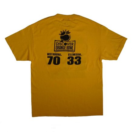 west virginia mountaineers 2012 orange bowl t shirt back