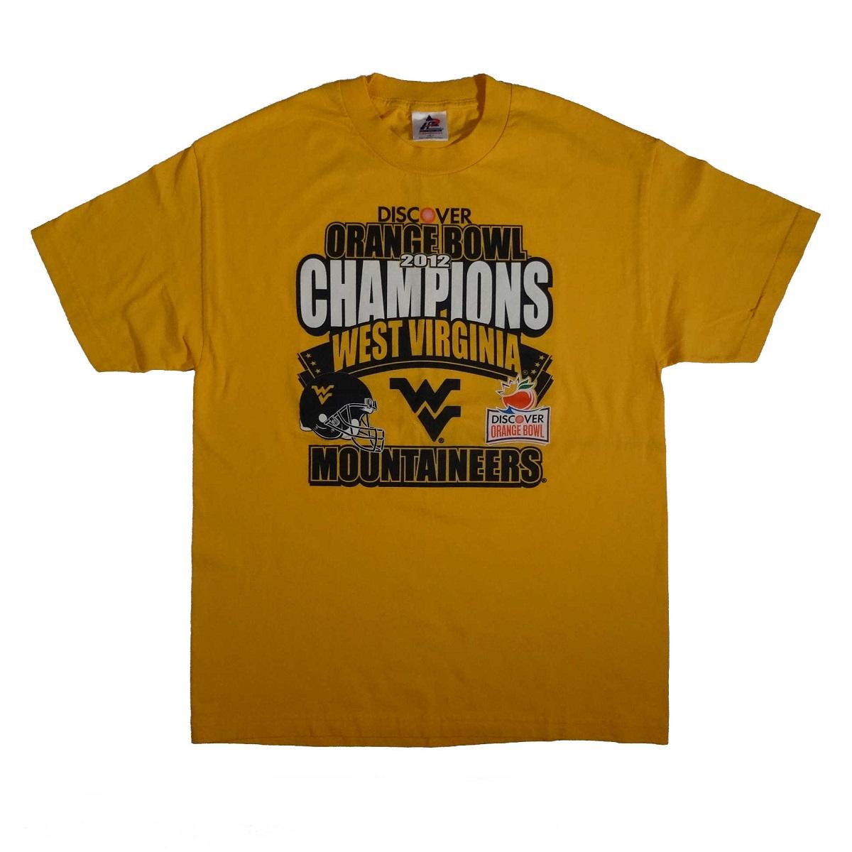 west virginia mountaineers 2012 orange bowl t shirt front