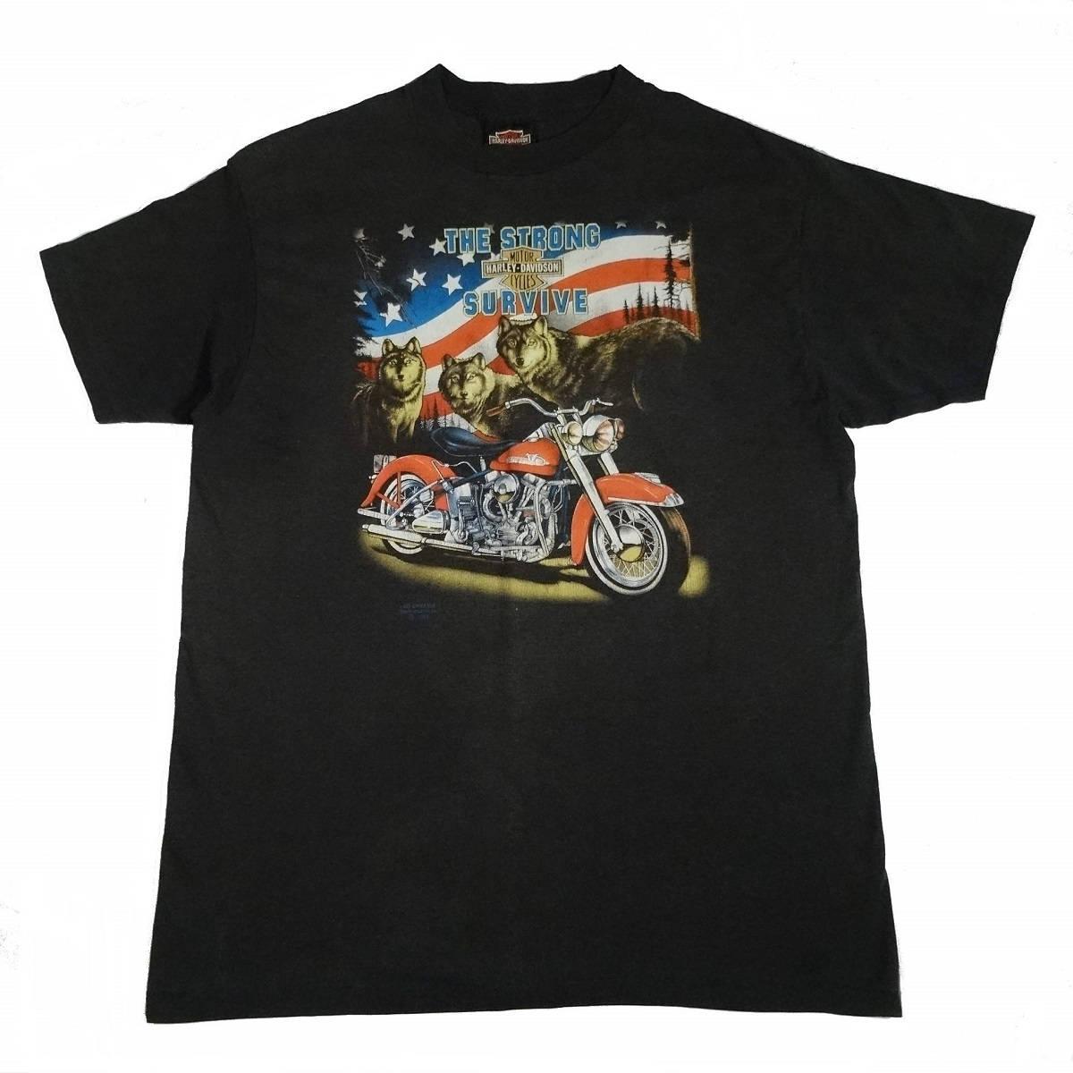 vintage 3d emblem harley davidson strong survive colorado truck stop t shirt front